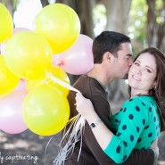 west palm beach waterfront engagement clematis balloons pink yellow