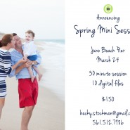 juno beach pier spring mini session palm beach