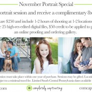 portrait photography special, south florida, south central pennsylvania, west palm beach, chambersburg, free, complimentary gift