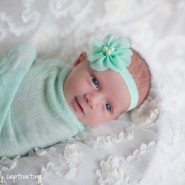 newborn photography mint headband mint wrap teal hobe sound Florida palm beach