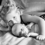 big sister baby brother newborn photo session