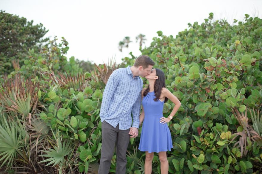 jupiter engagement sunrise beach photo session