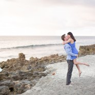 jupiter engagement sunrise coral beach photo session