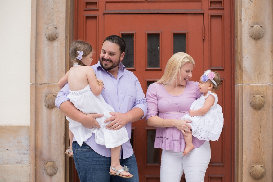downtown west palm beach urban family photo session
