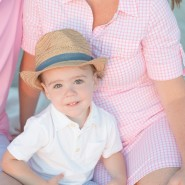 sunrise beach family session two year old session jupiter florida baby fedora vacation session